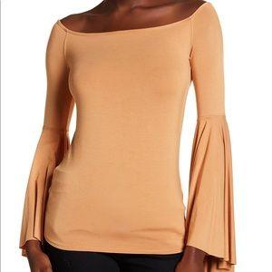 Free People Bell Sleeve Orange Blouse